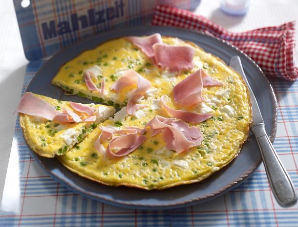 Feta-Omelett mit Erbsen Rezept