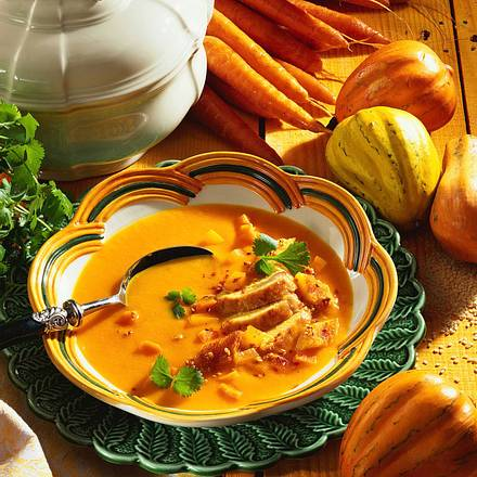 Feurig-scharfe Möhren-Kürbis-Suppe Rezept