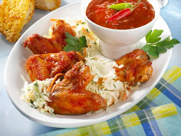 Feurige Chicken Wings Rezept