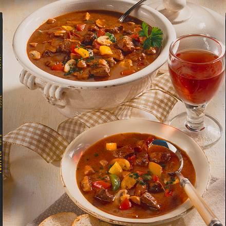 Feurige Gulasch-Suppe Rezept