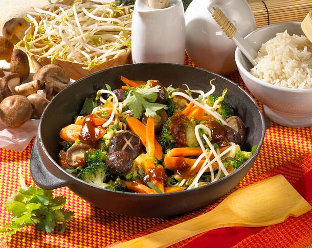 Feuriges Wok-Gemüse Rezept