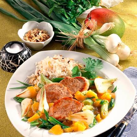 Filet mit pikantem Zwiebelgemüse (Diabetiker) Rezept