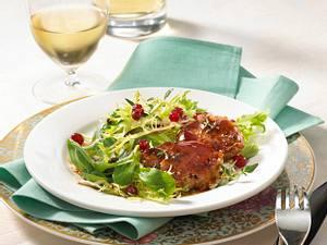 Filet mit Portweingelee auf Salat Rezept
