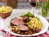 Filet mit Rotweinsoße (Wengerterfilet in Lembergersoße) Rezept