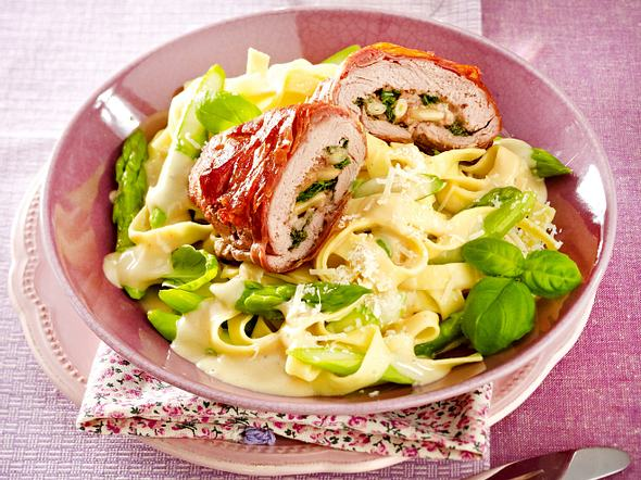 Filet-Saltimbocca im Parmamantel Rezept