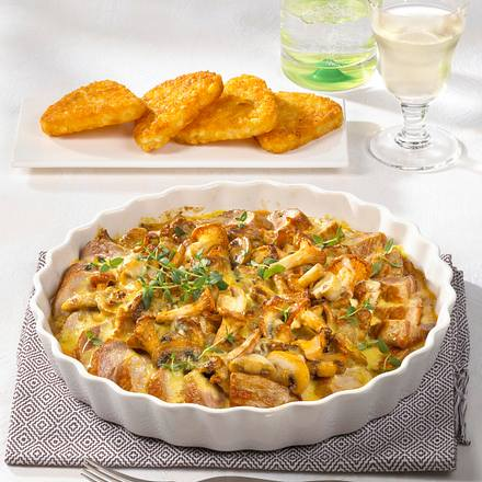 Filetgratin mit Pilz-Hollandaise Rezept