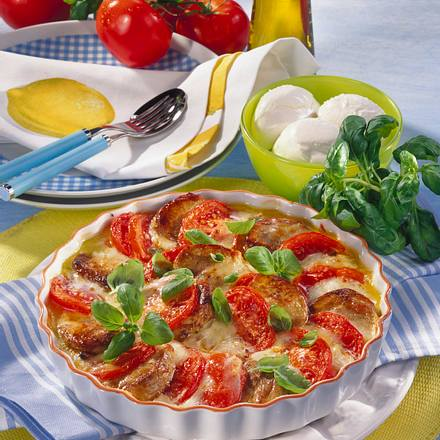 "Filetgratin ""Tomate-Mozzarella"" Rezept"