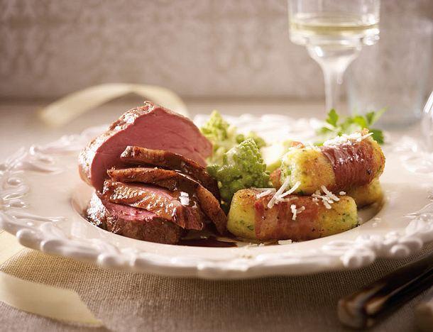 Filetplatte mit Kroketten di Parma Rezept