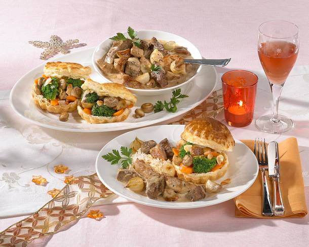 Filetspitzen-Ragout zu Gemüse-Pastetchen Rezept