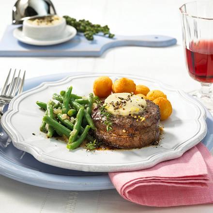 Filetsteak mit Cognac-Pfeffer-Butter Rezept