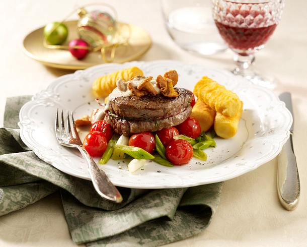 Filetsteak mit Pfifferlingen Rezept