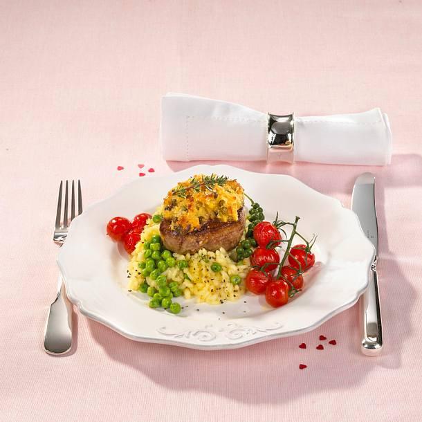Filetsteaks mit Honig-Pfeffer-Kruste (für 4 Personen) Rezept