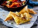 Filo-Feta-Ecken mit Schmorgemüse Rezept