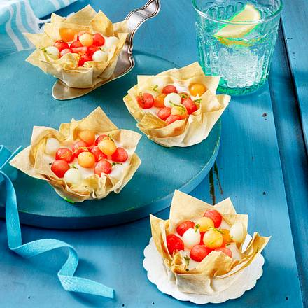 Filoteig-Melonentörtchen Rezept