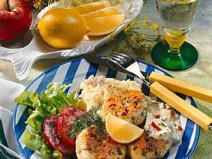 Fisch-Buletten zu Joghurt-Remoulade Rezept