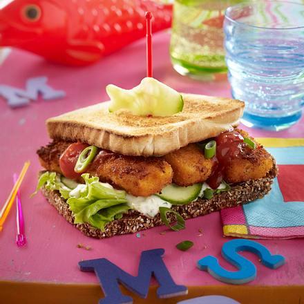 Fisch-Burger mit Joghurt-Dressing Rezept