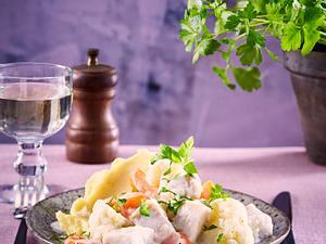 Fisch-Frikassee mit Kartoffelpüree Rezept