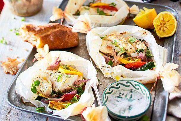 """Fisch-Gemüse-Päckchen """"F(r)isch und fertig"""" Rezept"""