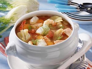 Fisch-Gemüsesuppe mit Fenchel Rezept