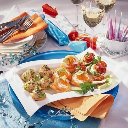 Fisch-Häppchen-Platte (Thunfischcracker) Rezept