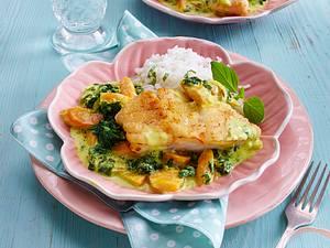 Fisch mit Curry-Soße Rezept