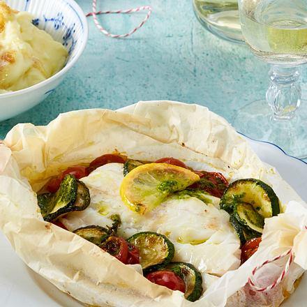 Fisch-Päckchen mit Kartoffelpüree Rezept