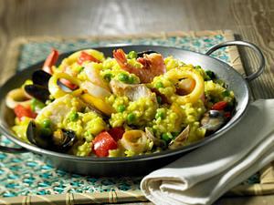 Fisch-Paella Rezept