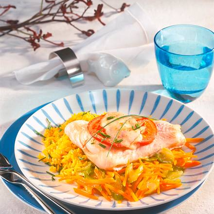 Fisch-Schnitte mit Käse-Haube Rezept