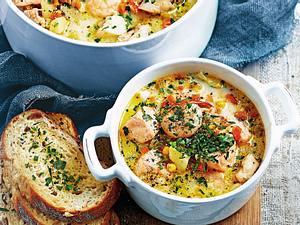 Fisch-Stew mit Allerlei Gemüse Rezept