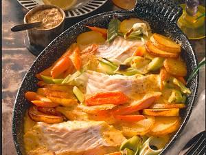 Fischauflauf mit Bratkartoffeln Rezept