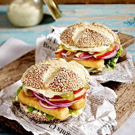 Fischburger für Leichtmatrosen Rezept