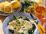 Fischfilet auf Blattspinat Rezept