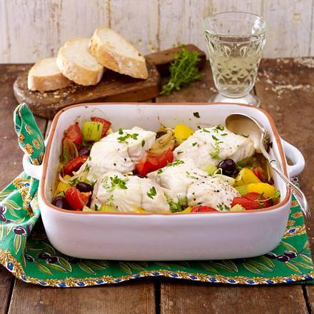 Fischfilet auf französischem Gemüse Rezept