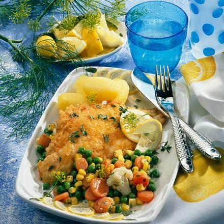 Fischfilet in goldbrauner Kruste Rezept