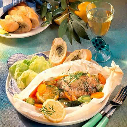 Fischfilet in Pergamenthülle Rezept