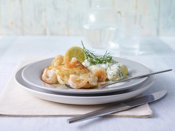 Fischfilet mit Dill-Sahne-Kartoffeln Rezept