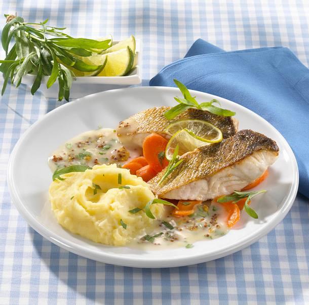 Fischfilet mit Estragon-Senfsoße Rezept