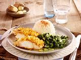 Fischfilet mit Ingwerkruste zu Rahm-Spinat und Basmati-Reis Rezept