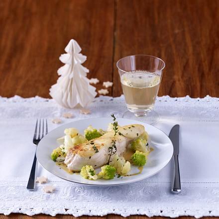 Fischfilet mit Kohlröschen und Limetten-Honig-Senfsoße Rezept