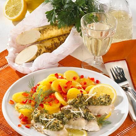 Fischfilet mit Meerrettich-Kruste Rezept
