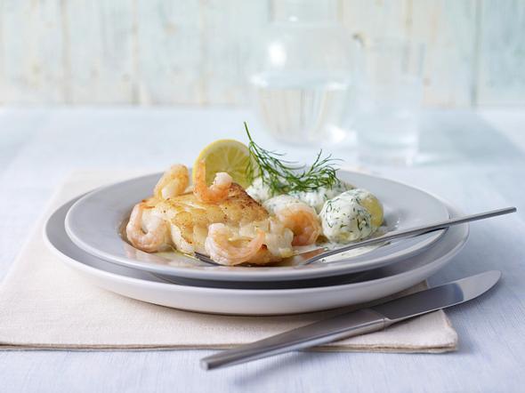 Fischfilet mit Sahne-Dill-Kartoffel Rezept