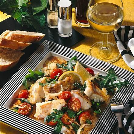 Fischfilet mit Tomaten & Rucola Rezept