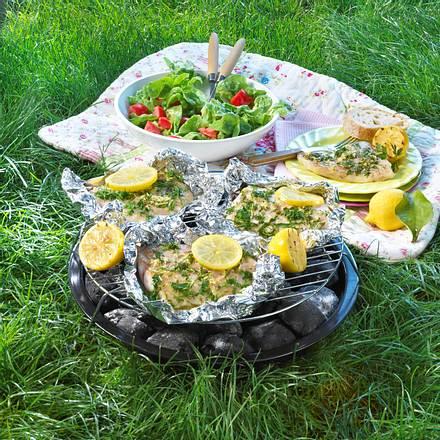 Fischpäckchen mit Zitrone und Kräutern Rezept