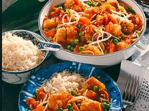Fischpfanne mit süß-saurere Soße Rezept