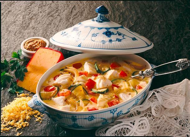 Fischragout in Käse-Senf-Soße Rezept