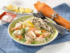 Fischragout mit Erbsen & Möhren Rezept