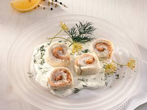 Fischröllchen mit Schmandsoße Rezept
