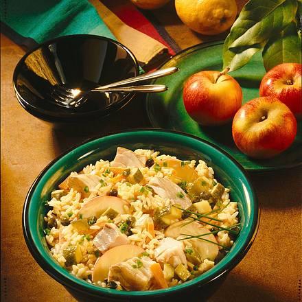 Fischsalat mit Reis Rezept