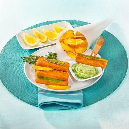 Fischstäbchen mit Bärlauchmayonnaise Rezept