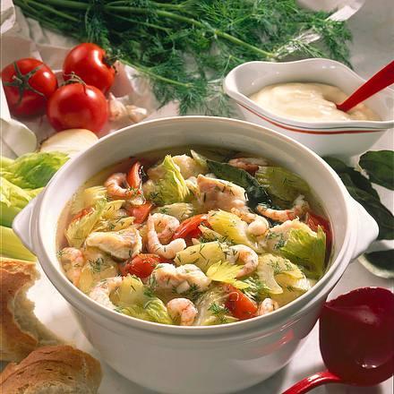Fischsuppe mit Aioli Rezept